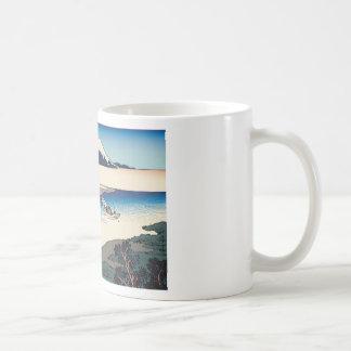 Hokusai Tama River in Musashi Province Coffee Mugs