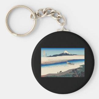 Hokusai Tama River in Musashi Province Key Chain