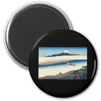 Hokusai Tama River in Musashi Province Refrigerator Magnet