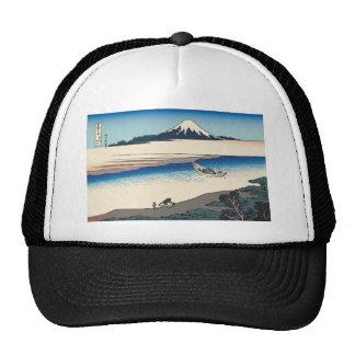 Hokusai Tama River in Musashi Province Mesh Hat
