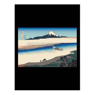 Hokusai Tama River in Musashi Province Postcard