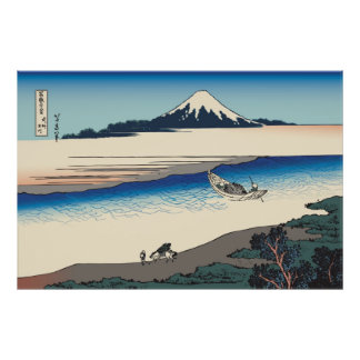 Hokusai Tama River in Musashi Province Posters