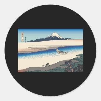 Hokusai Tama River in Musashi Province Stickers