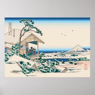 Hokusai Tea House Koishikawa Print