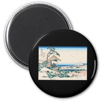 Hokusai Tea House Koishikawa Refrigerator Magnets