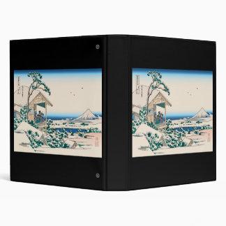 Hokusai Tea House Koishikawa Vinyl Binder