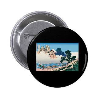 Hokusai The back of Fuji from the Minobu river 2 Inch Round Button