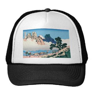 Hokusai The back of Fuji from the Minobu river Mesh Hat