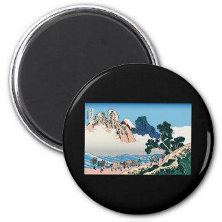 Hokusai The back of Fuji from the Minobu river Magnets