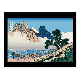 Hokusai The back of Fuji from the Minobu river Postcard