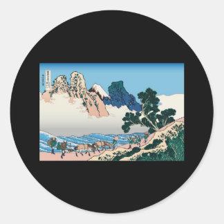 Hokusai The back of Fuji from the Minobu river Round Sticker