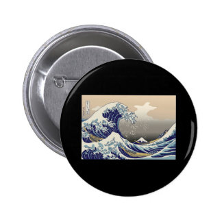 Hokusai The Great Wave 2 Inch Round Button