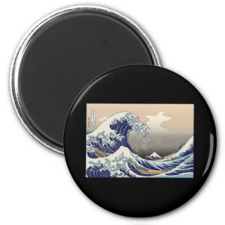 Hokusai The Great Wave 2 Inch Round Magnet