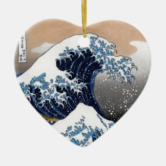 "Hokusai, ""The Great Wave OFF Kanagawa"" Ceramic Ornament"