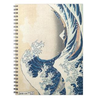 Hokusai The Great Wave Off Kanagawa Notebook