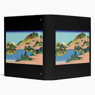 Hokusai The lake of Hakone in Sagami Province 3 Ring Binders