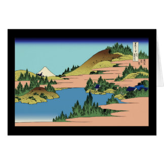 Hokusai The lake of Hakone in Sagami Province Greeting Card