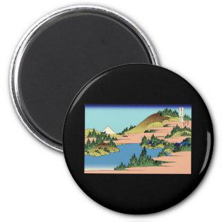 Hokusai The lake of Hakone in Sagami Province Fridge Magnet