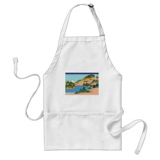 Hokusai The lake of Hakone in Sagami Province Standard Apron