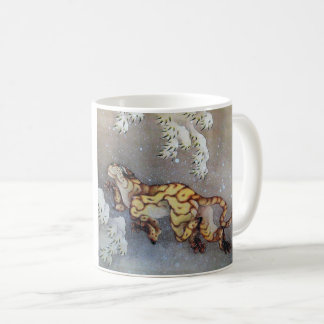 "Hokusai, ""Tiger in snow"" Katsushika north 斎 'tiger Coffee Mug"