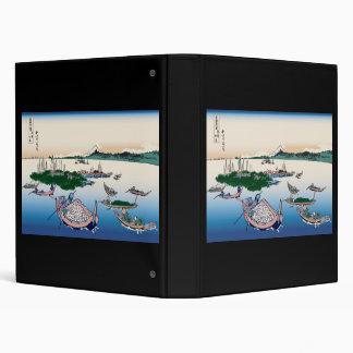 Hokusai Tsukuda Island in Musashi Province Binder