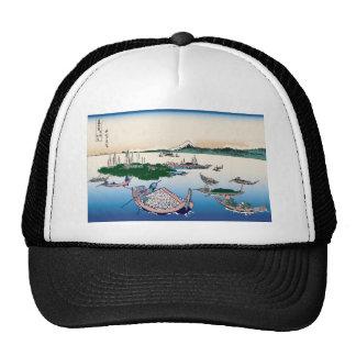 Hokusai Tsukuda Island in Musashi Province Trucker Hat