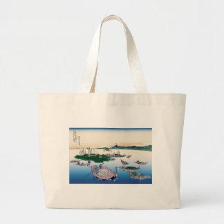 Hokusai Tsukuda Island in Musashi Province Jumbo Tote Bag