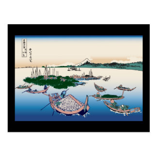 Hokusai Tsukuda Island in Musashi Province Postcard
