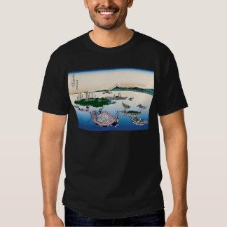 Hokusai Tsukuda Island in Musashi Province T Shirts