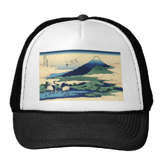 Hokusai Umegawa in Sagami Province Mesh Hats
