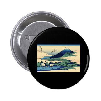 Hokusai Umegawa in Sagami Province Pinback Buttons