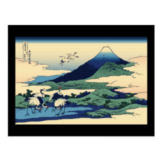 Hokusai Umegawa in Sagami Province Post Cards