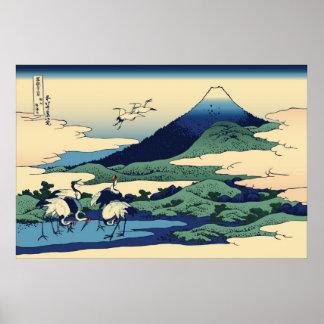 Hokusai Umegawa in Sagami Province Poster