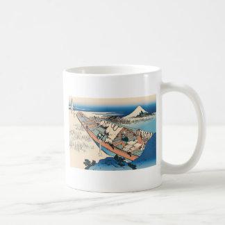 Hokusai Ushibori in Hitachi Province Mug