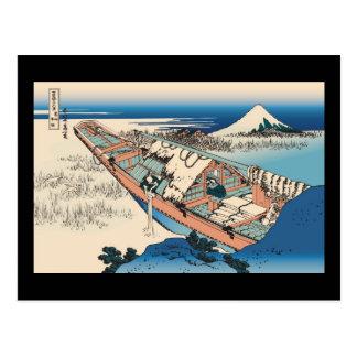 Hokusai Ushibori in Hitachi Province Post Card