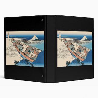 Hokusai Ushibori in Hitachi Province Vinyl Binders