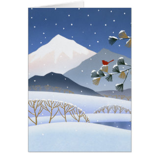 Hokusai - Winter Trees Card