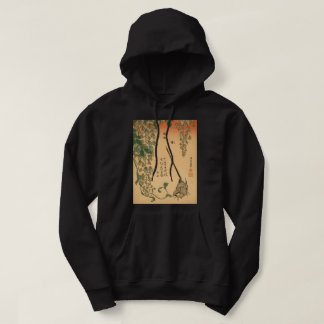 Hokusai Wisteria and Wagtail GalleryHD Vintage Art Hoodie