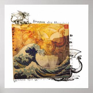 Hokusai's Dragon? Poster
