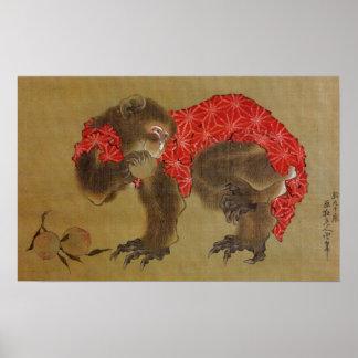 Hokusai's 'Monkey' Poster