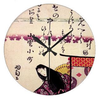 Hokusai's 'Poetess Ononokomatschi' Wall Clock