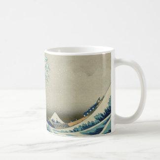 Hokusai's The Great Wave off Kanagawa Classic White Coffee Mug