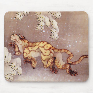 Hokusai's 'Tiger in the Snow' Mousepad