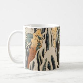 Hokusai's Waterfalls Kirifuri Classic White Coffee Mug