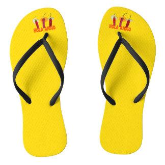 Hola Amigo Funny Flip Flops