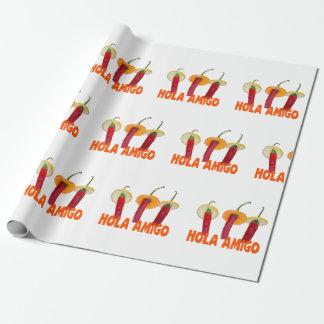 Hola Amigo Wrapping Paper