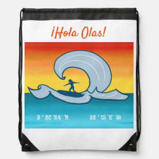 ¡Hola Olas! – Colorful Tropical Surfing Backpack