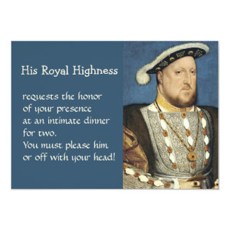 Holbein Portrait of Henry VIII King of England Card