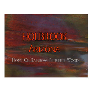 Holbrook Arizona Pet Wood Postcard