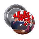Hold It! Phoenix Wright & Miles Edgeworth 2 Inch Round Button